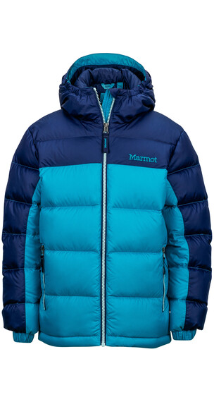 Marmot Girl's Guides Down Hoody Turquoise/Arctic Navy